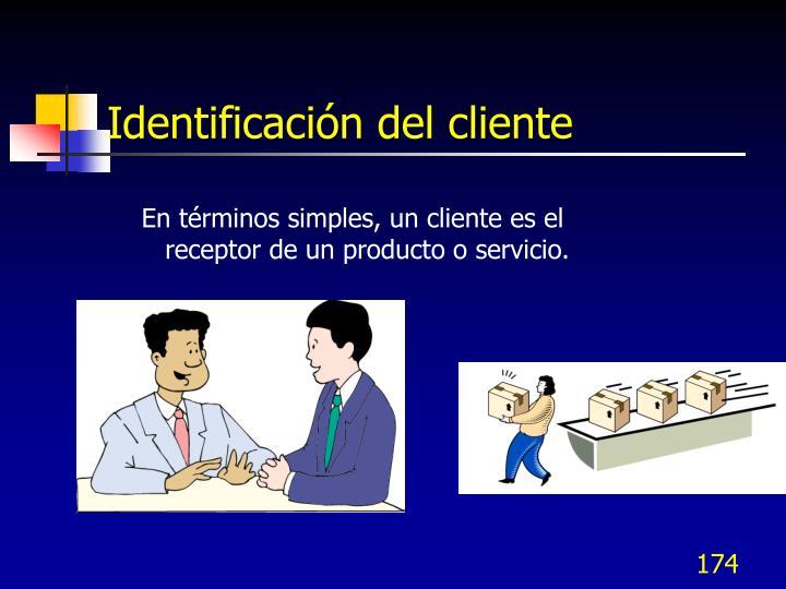 Identificación del cliente