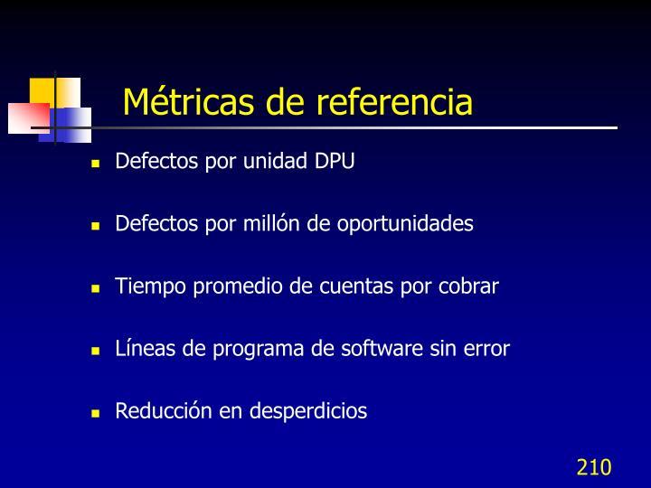 Métricas de referencia
