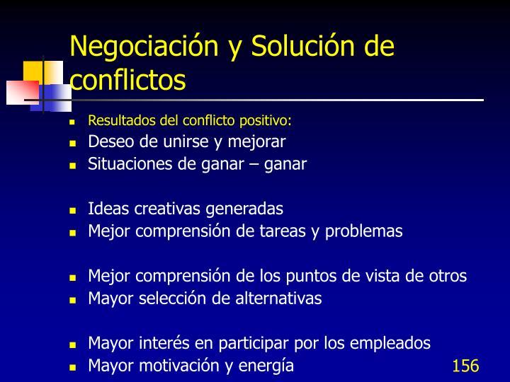 Negociación y Solución de conflictos
