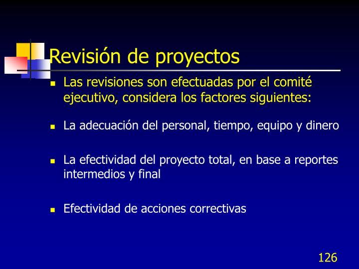 Revisión de proyectos