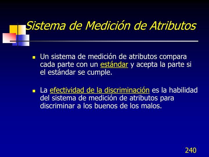 Sistema de Medición de Atributos
