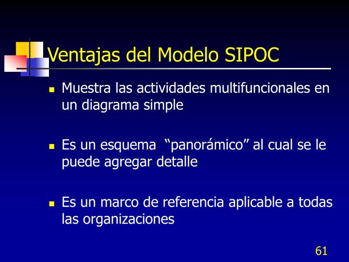 Ventajas del Modelo SIPOC