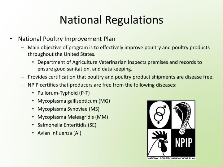 National Regulations