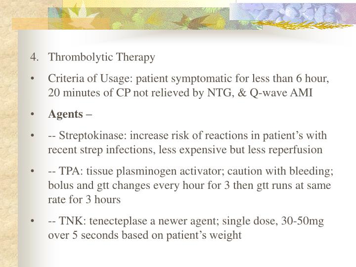 Thrombolytic Therapy