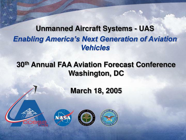 Unmanned Aircraft Systems - UAS