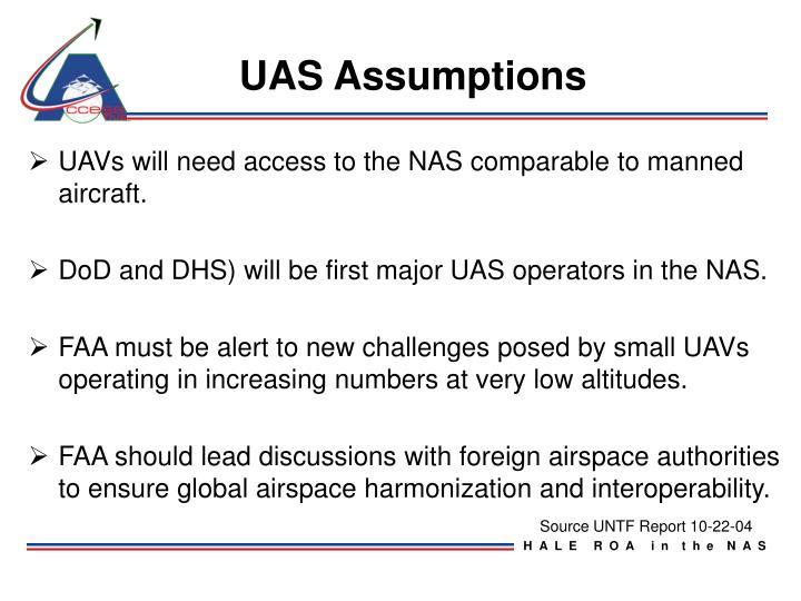 UAS Assumptions