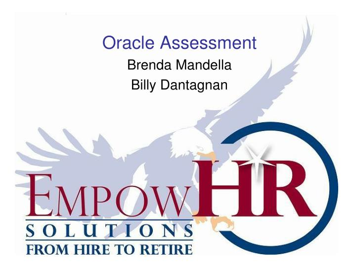 Oracle Assessment