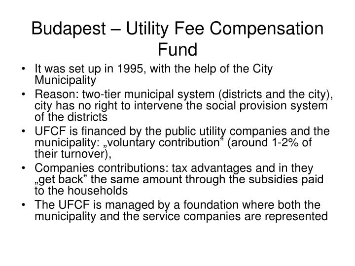 Budapest – Utility Fee Compensation Fund