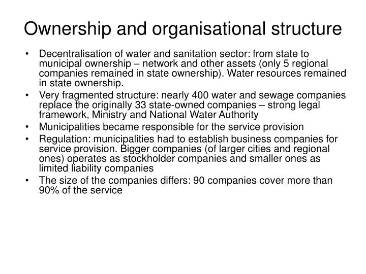 Ownership and organisational structure