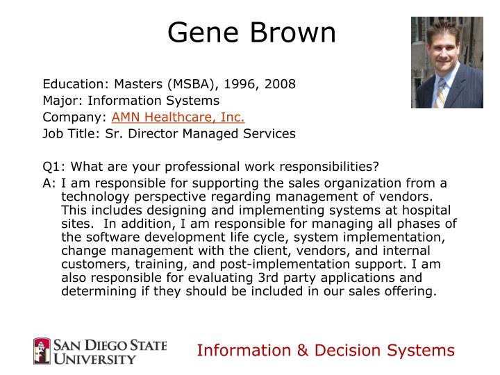 Education: Masters (MSBA), 1996, 2008