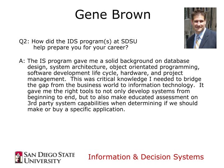 Q2: How did the IDS program(s) at SDSU