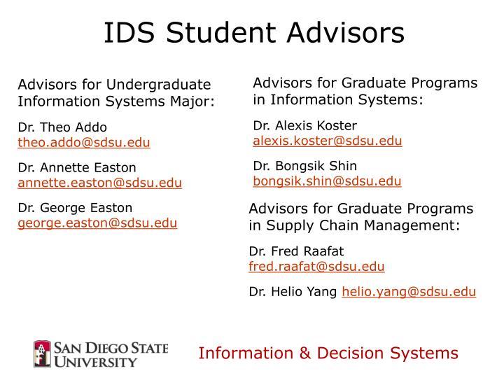 IDS Student Advisors