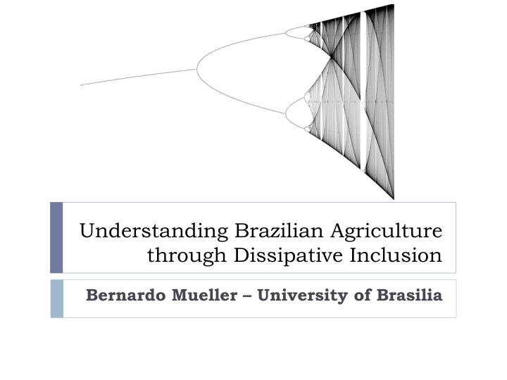 Understanding Brazilian Agriculture through Dissipative Inclusion