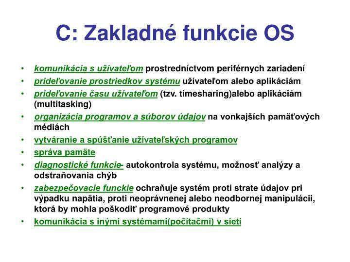 C: Zakladn funkcie OS