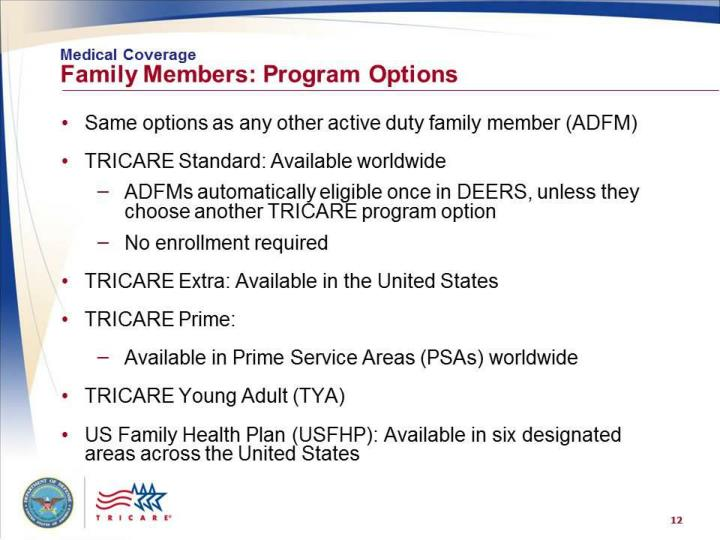 Medical Coverage: Family Members – Program Options