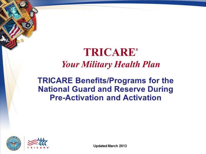TRICARE: Your Military Health Plan