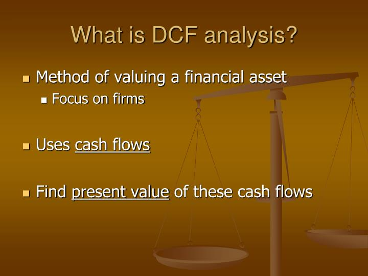 What is DCF analysis?