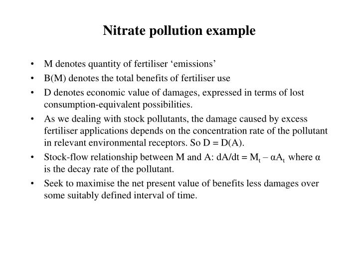 Nitrate pollution example