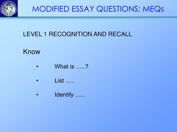 LEVEL 1 RECOGNITION AND RECALL