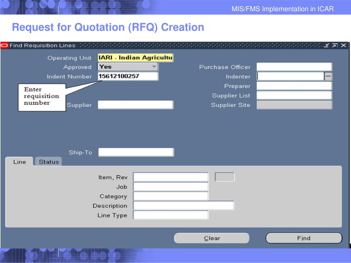 Request for Quotation (RFQ) Creation