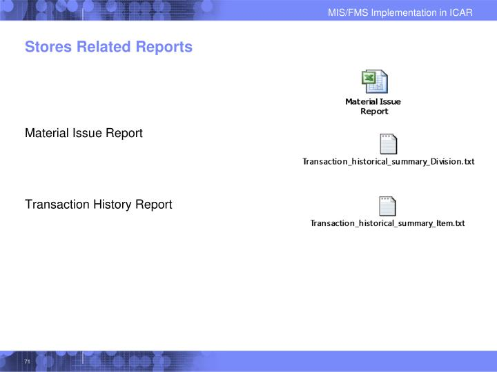 Stores Related Reports