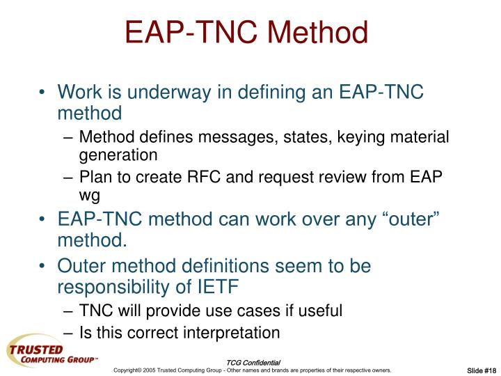 EAP-TNC Method