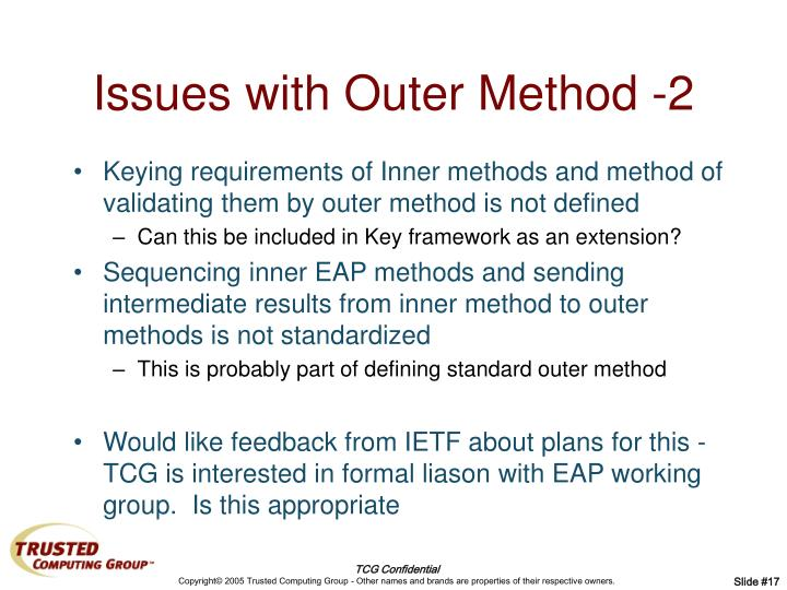 Issues with Outer Method -2
