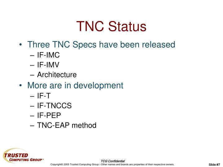 TNC Status