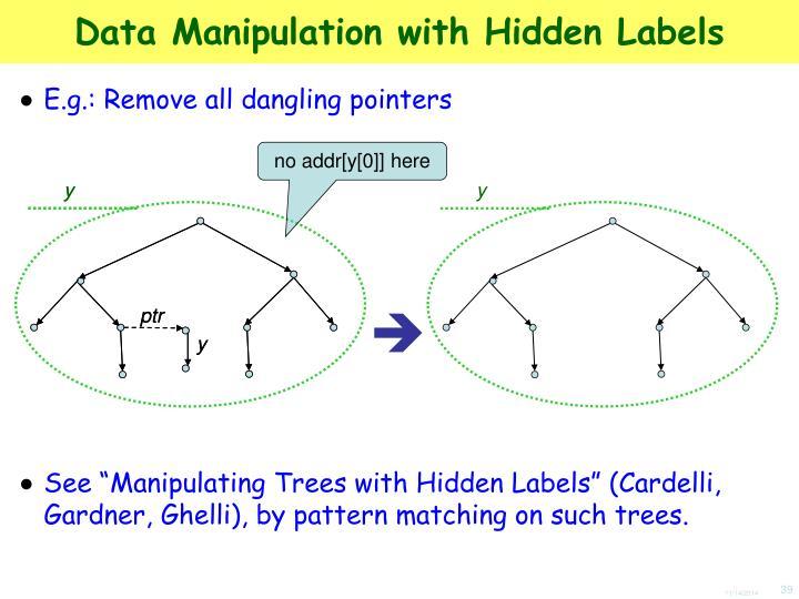 Data Manipulation with Hidden Labels