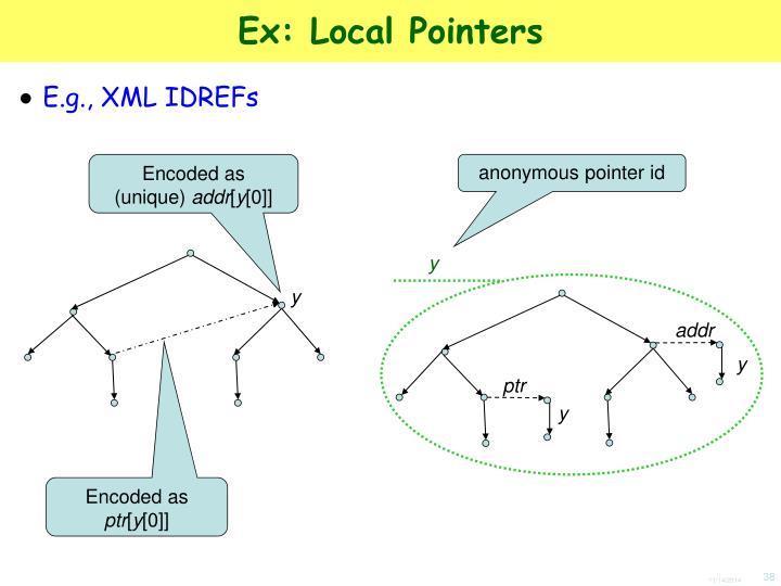 Ex: Local Pointers