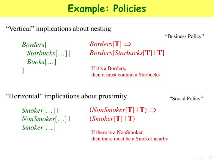 Example: Policies