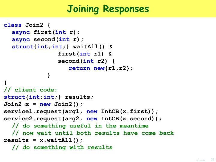 Joining Responses