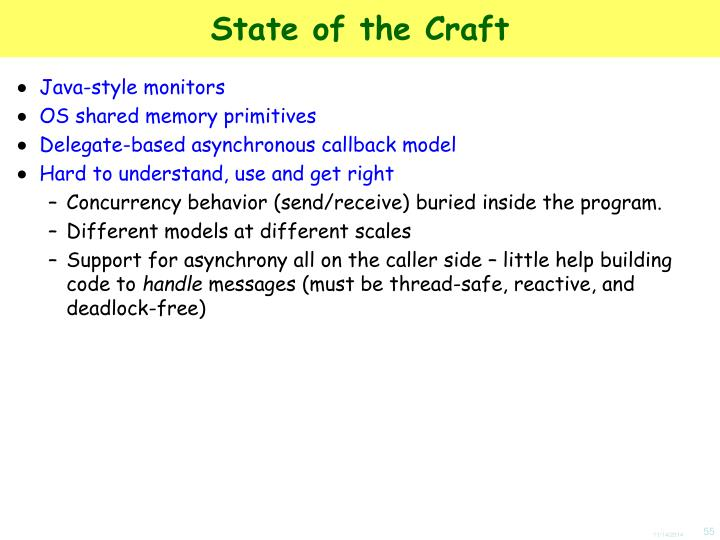 State of the Craft
