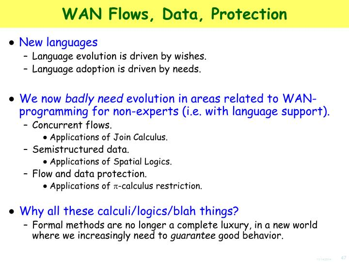 WAN Flows, Data, Protection