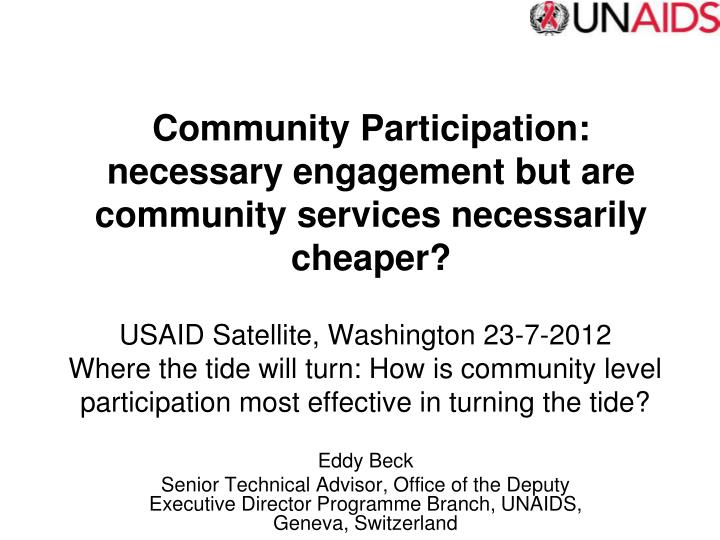 Community Participation:
