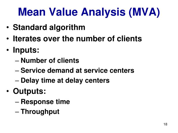 Mean Value Analysis (MVA)