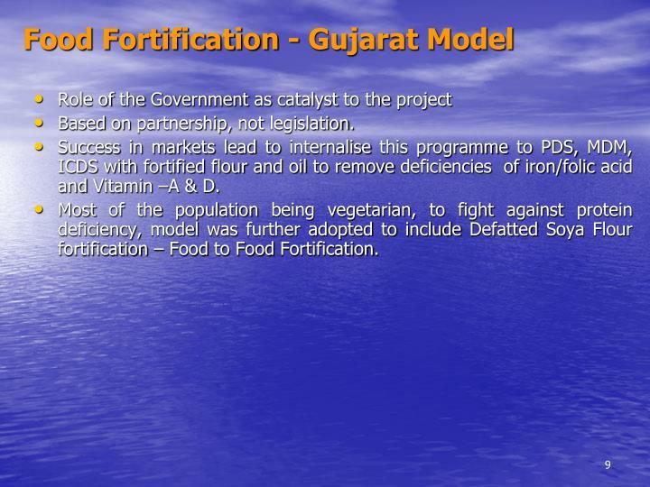 Food Fortification - Gujarat Model