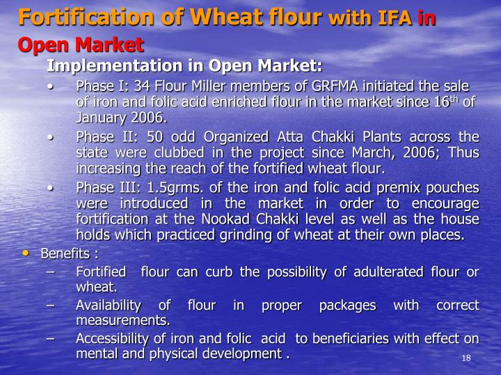 Fortification of Wheat flour