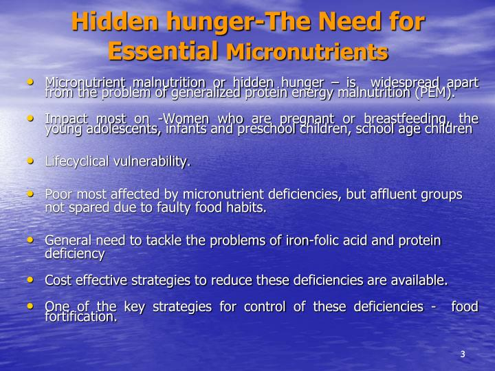 Hidden hunger-The Need for Essential