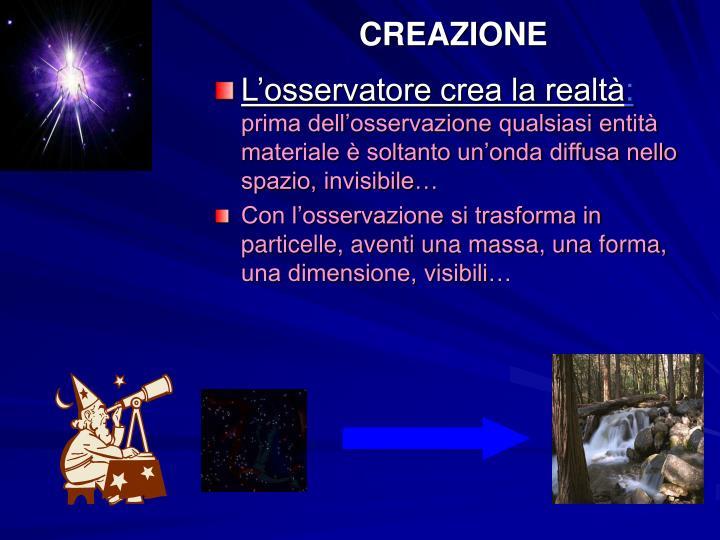 CREAZIONE