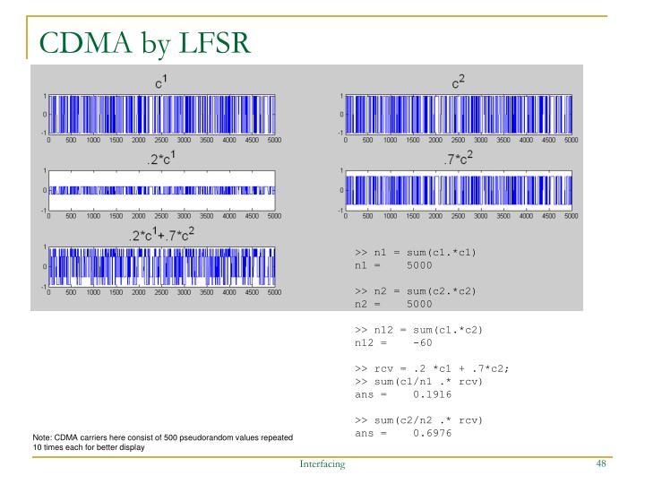 CDMA by LFSR