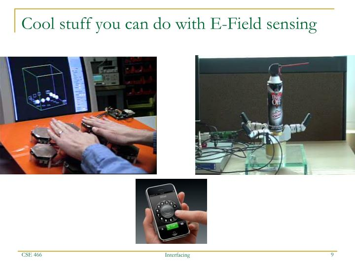 Cool stuff you can do with E-Field sensing