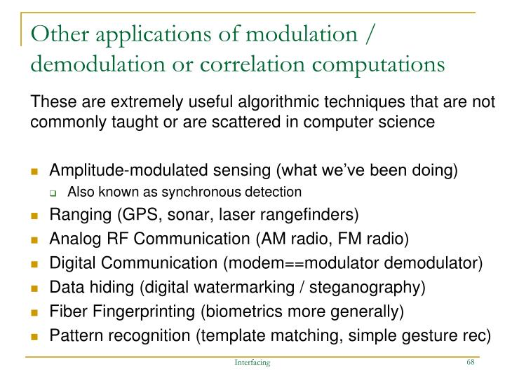 Other applications of