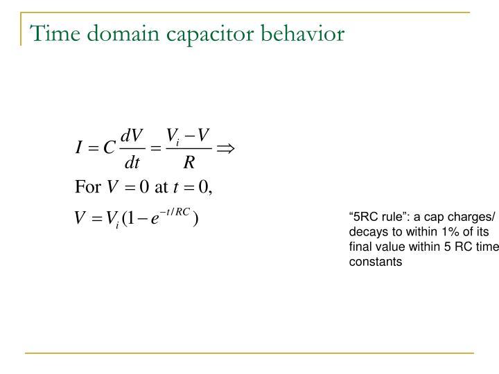 Time domain capacitor behavior