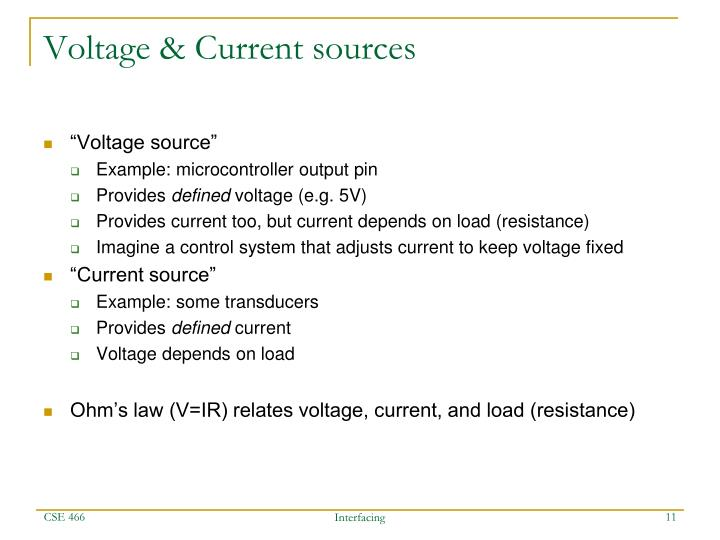 Voltage & Current sources