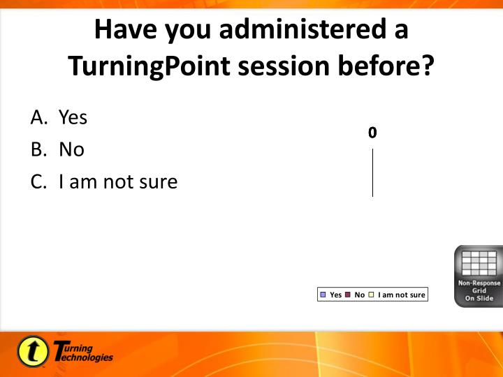 Have you administered a TurningPoint session before?