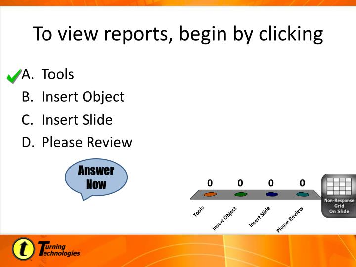 To view reports, begin by clicking