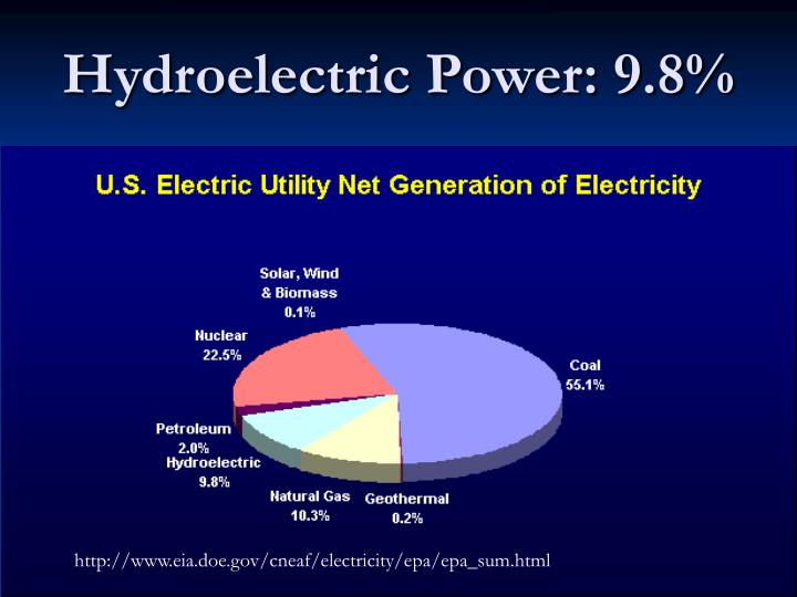 Hydroelectric Power: 9.8%