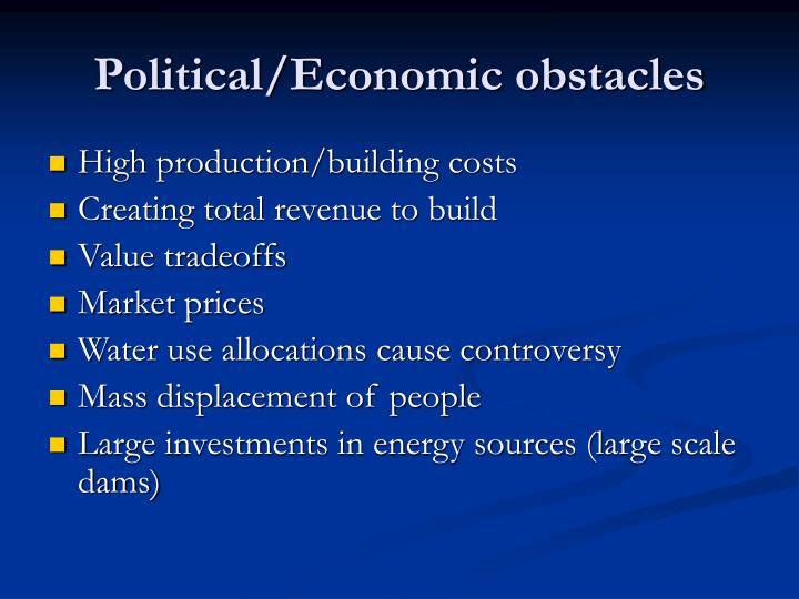 Political/Economic obstacles