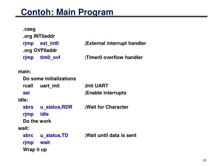 Contoh: Main Program